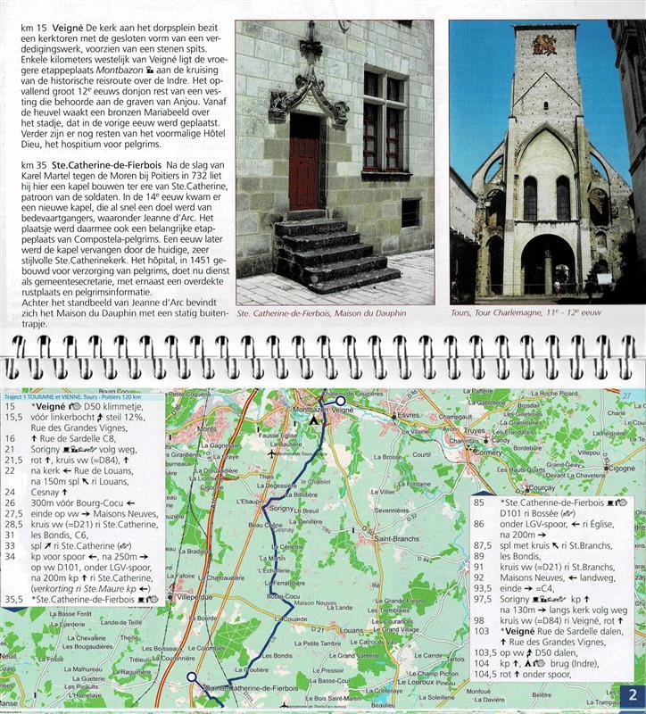 Voorbeeld van een routeboekje